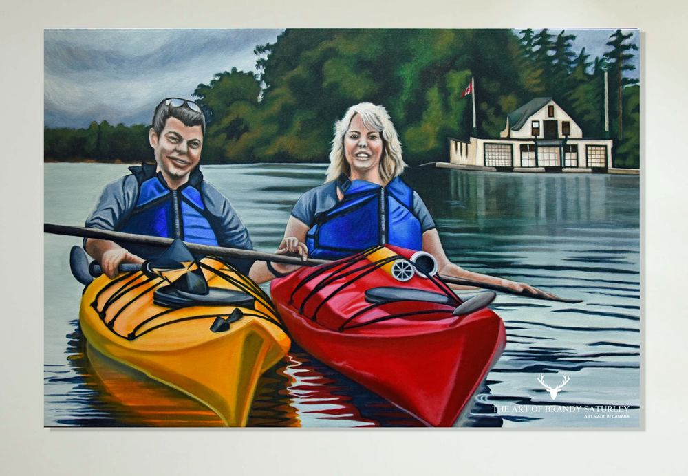 Love Canoe - 24x36 acrylic on canvas, 2016 Brandy Saturley