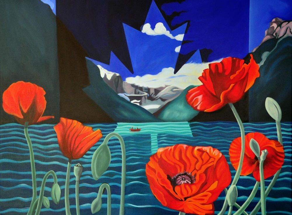 Poppies For Louise 40x30 acrylic on canvas, 2012 Brandy Saturley