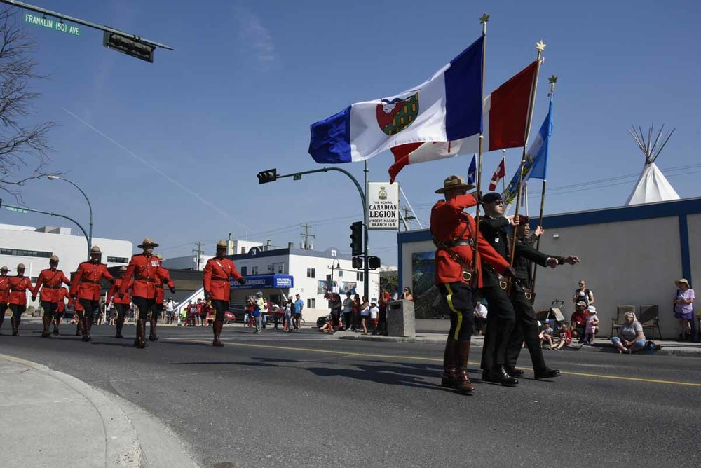RCMP at the Canada Day parade in Yellowknife, NWT