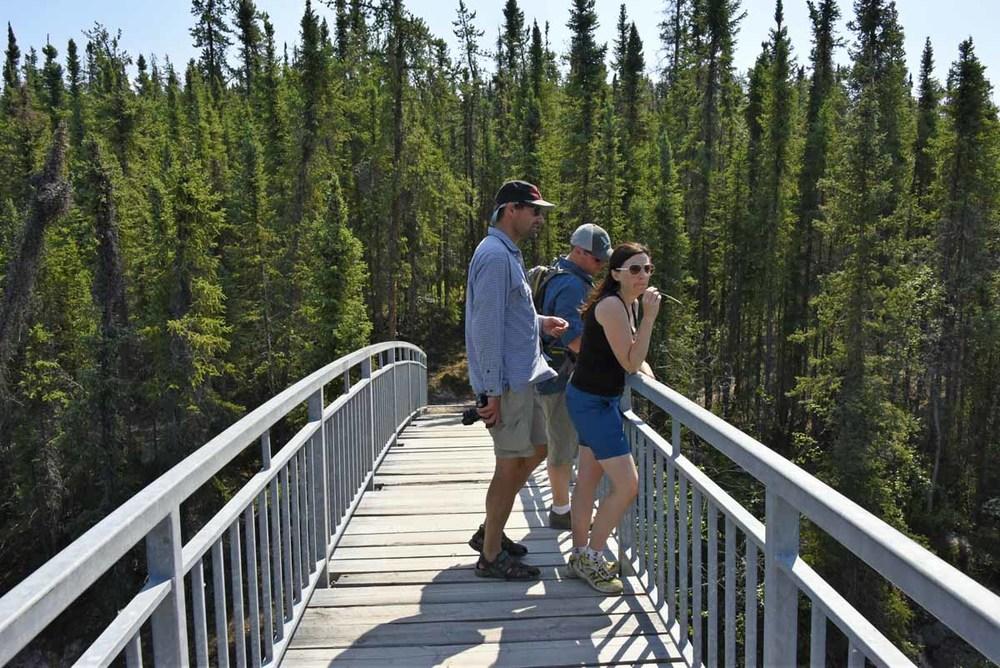 Hiking near Cameron Falls, Yellowknife