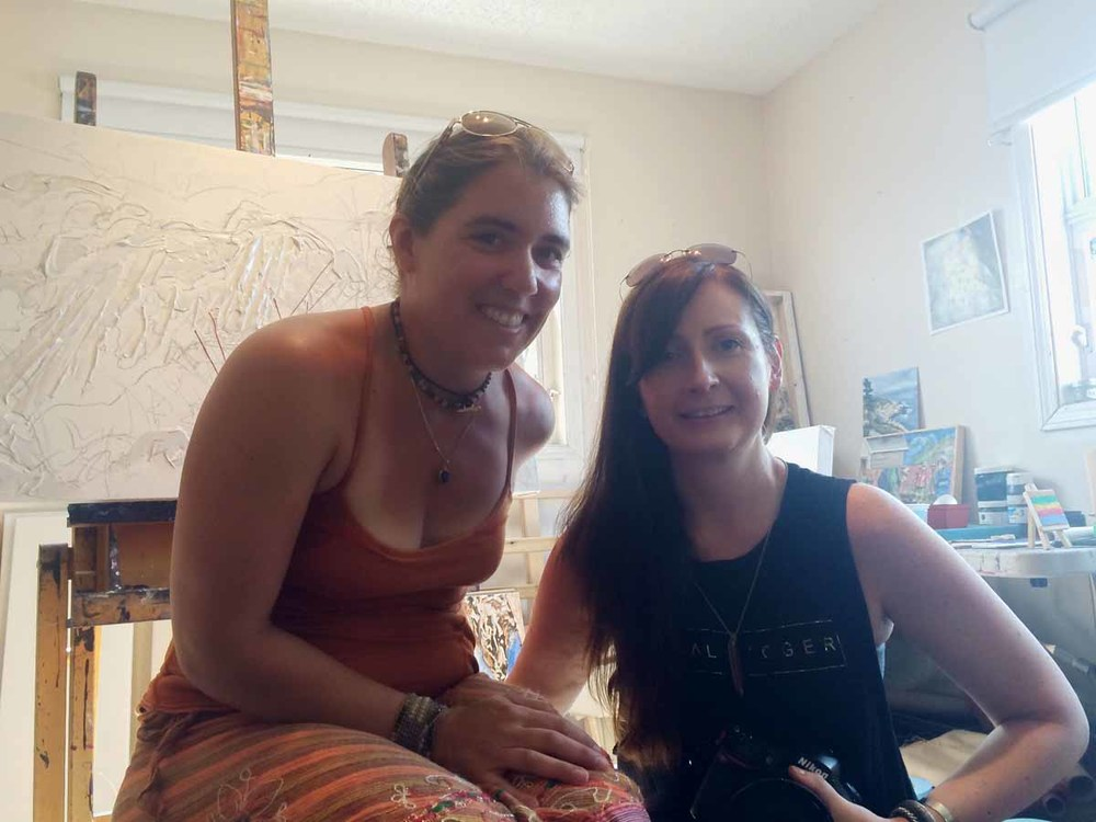 Jen Walden & Brandy Saturley in Walden's Yellowknife studio