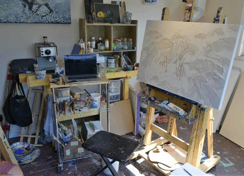 Jen Walden studio, work in progress