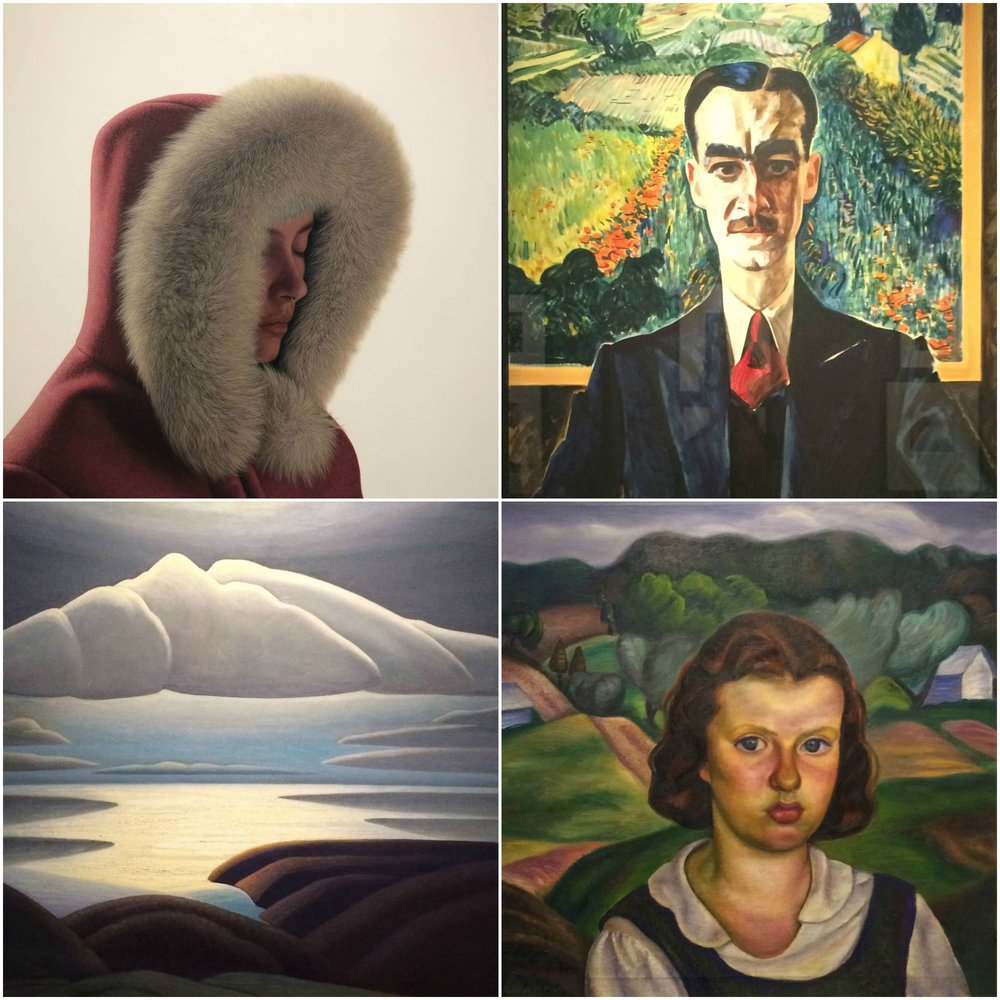 Paintings at The Winnipeg Art Gallery - Karel Funk, E. Prudence Heward, Lawren Harris