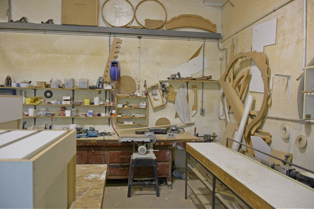 Woodworking Studio at Riverdale Colony in Manitoba | Photo Brandy Saturley