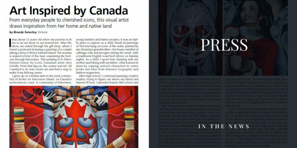 Famous Canadian artist and painter Brandy Saturley