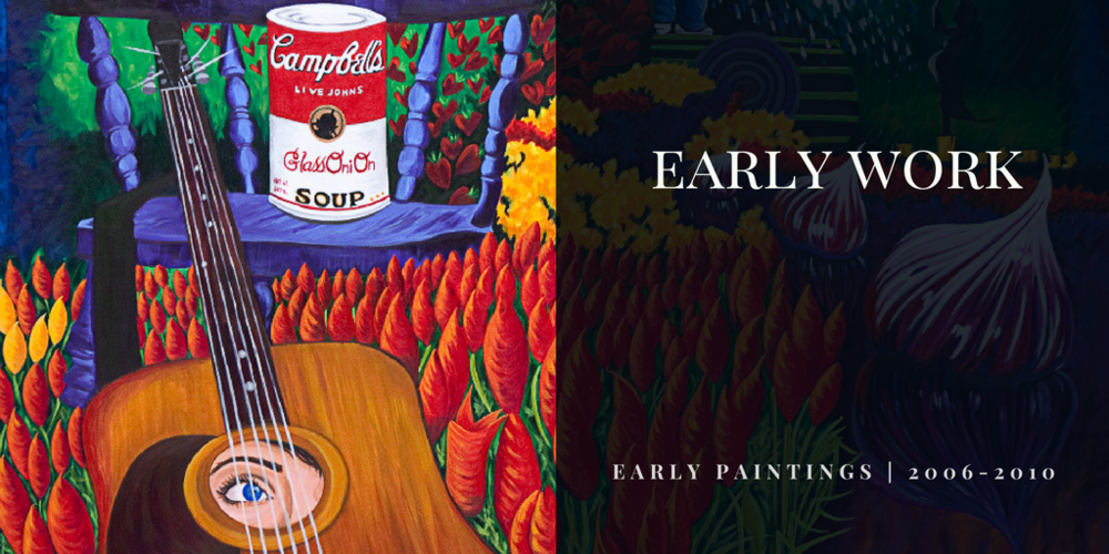 Canadian Visual Artist and painter Brandy Saturley - early paintings