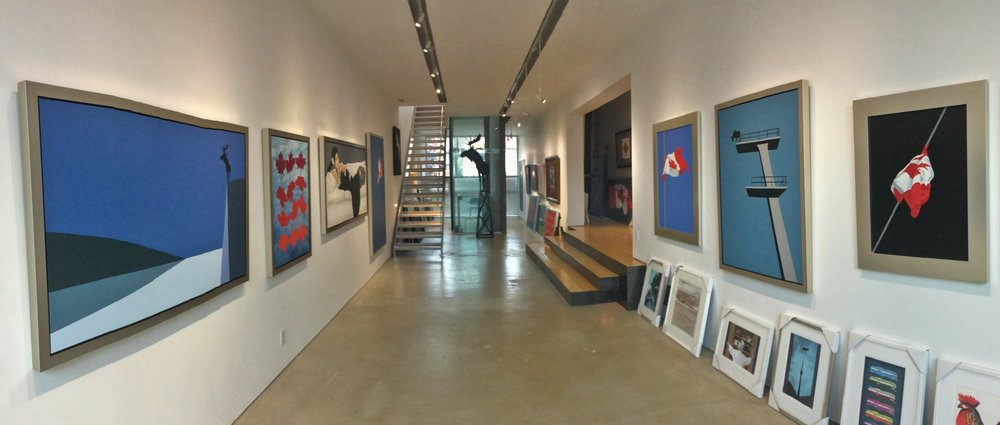 Second Floor gallery at Pachter Hall and Moose Factory, Toronto Ontario, CANADA