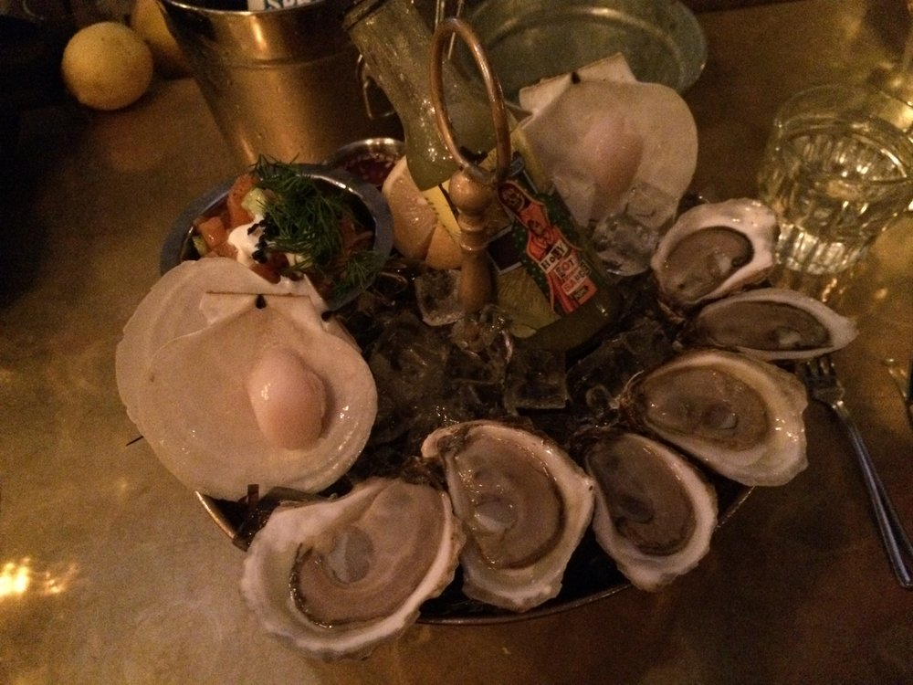 The seafood platter at Chuck Hughes' Garde Manger in Old Montreal, Quebec