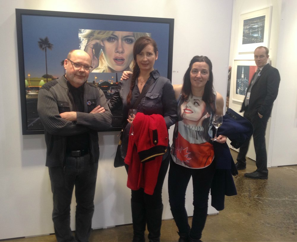 Artists Andrew Valko and Brandy Saturley, with Creative Director Jennifer Luckay