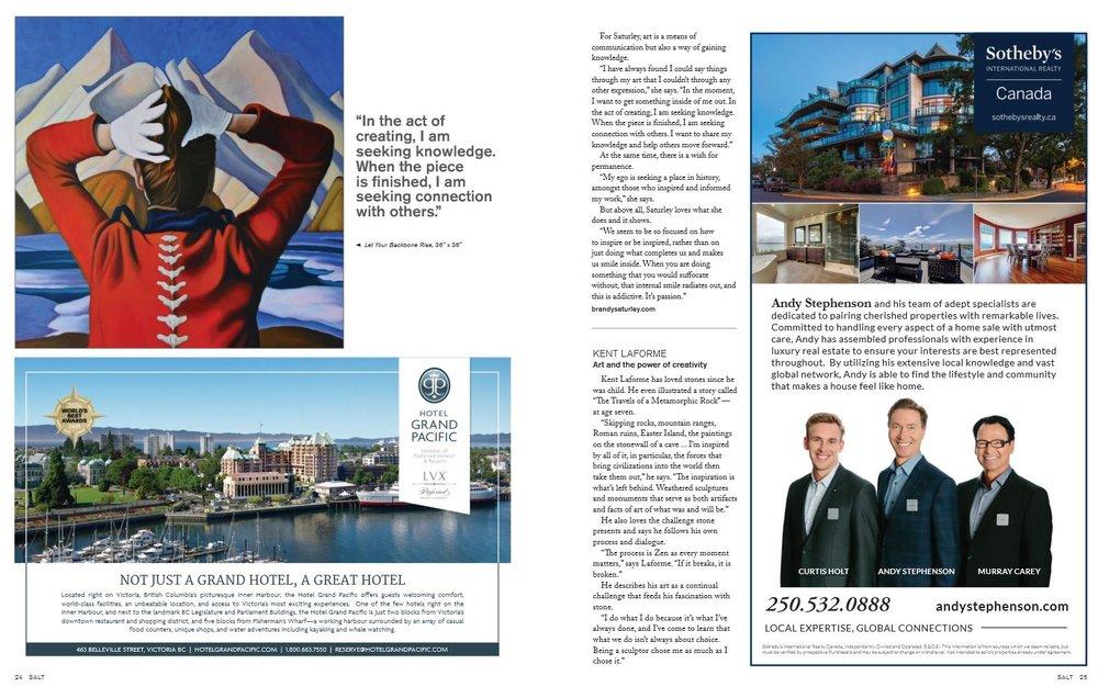 Salt Magazine fine living Vancouver Island
