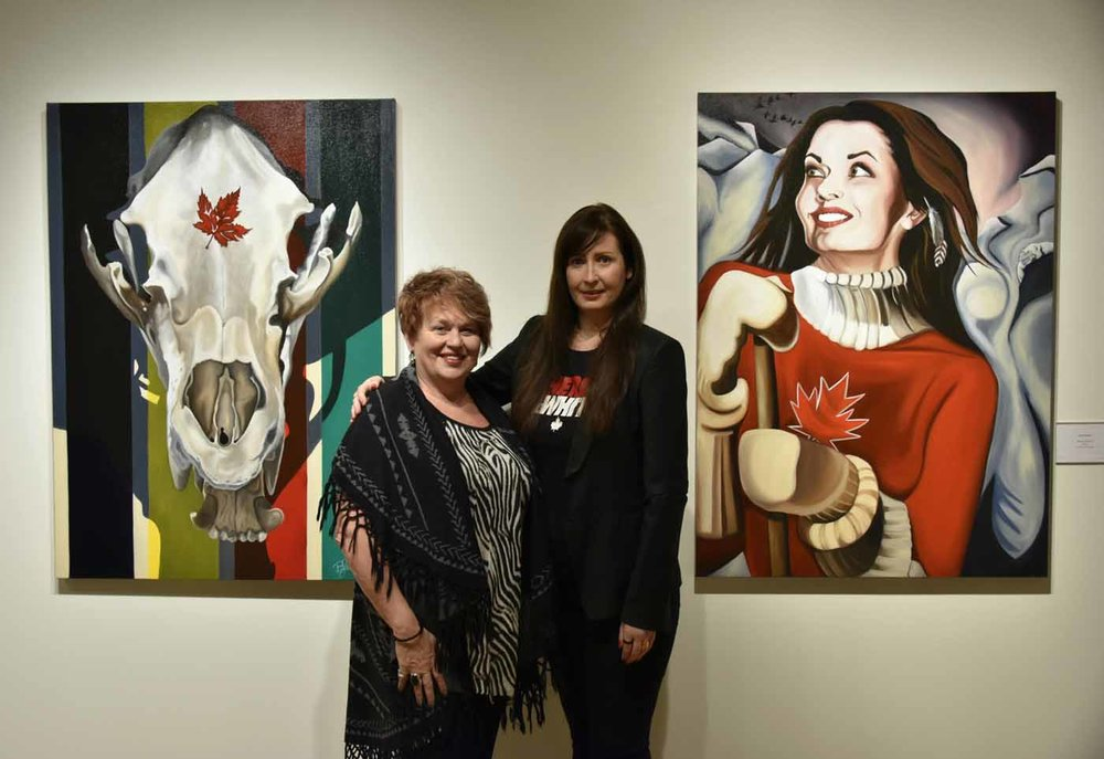 Sherwood Park Alberta Mayor Roxanne Carr and Canadian artist Brandy Saturley