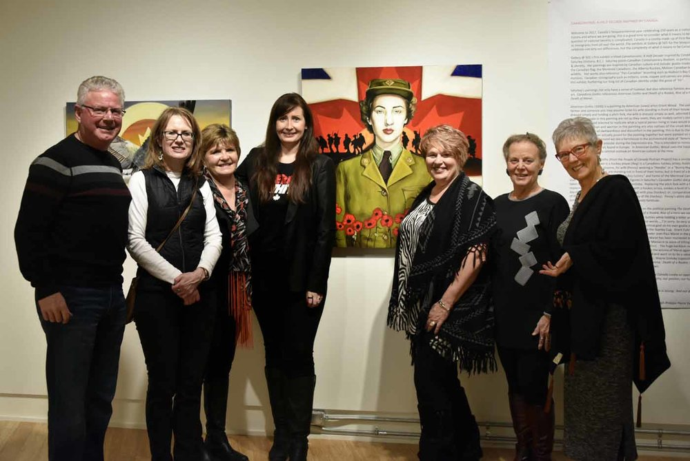 Festival Place Cultural Arts Foundation members and artist Brandy Saturley