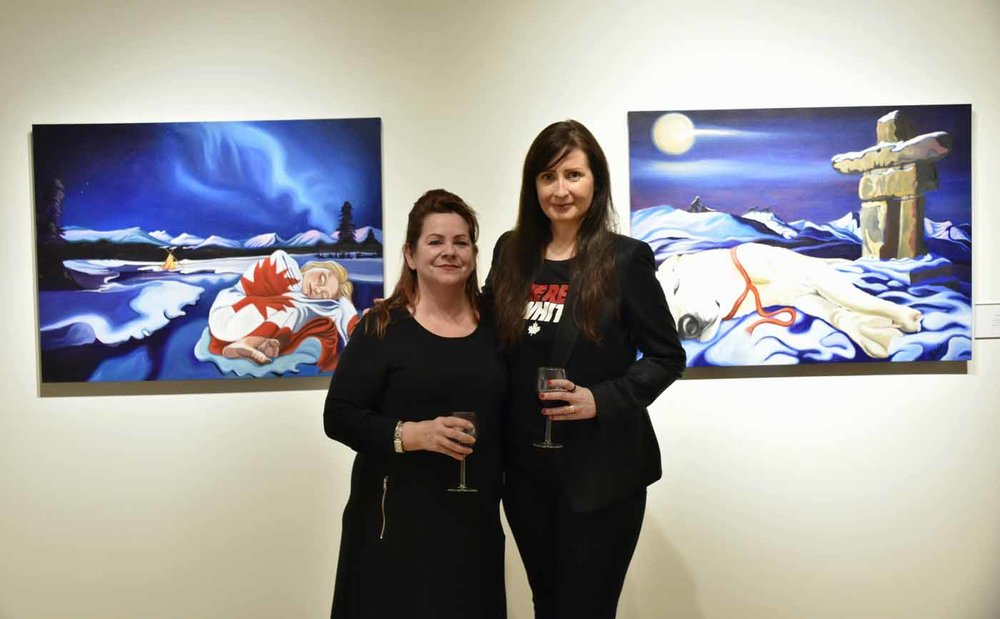Strathcona County Art Gallery @501 curator Brenda Barry Byrne and artist Brandy Saturley