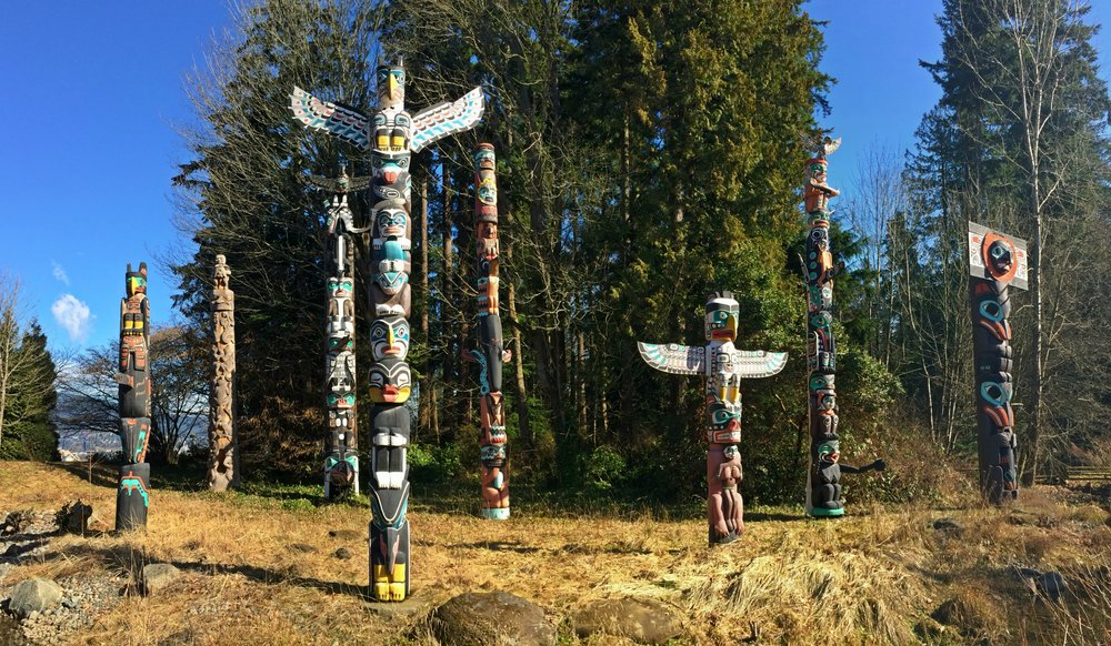 Brockton Point Totems - Stanley Park, Vancouver BC