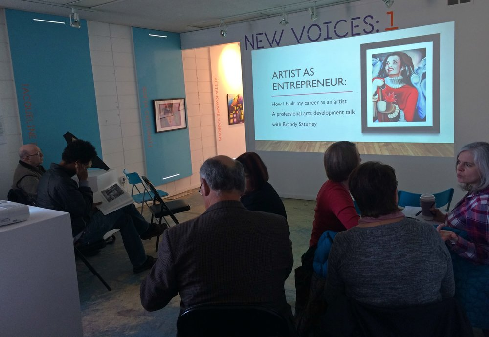 Artist as Entrepreneur: PD talk and webinar at VAAA/CARFAC in Edmonton - Brandy Saturley