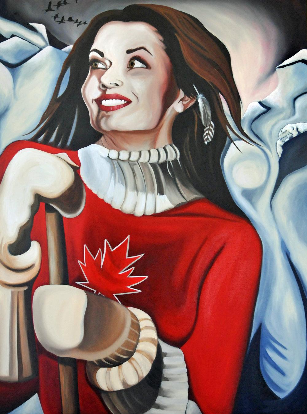Saint Kanata, acrylic on canvas, 2011 - Brandy Saturley, Canadian Painter
