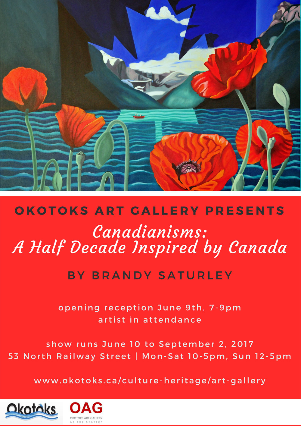 CANADIANISMS: A Half Decade Inspired by Canada, opens June 9th, 2017 and runs until Septemeber 2, 2017