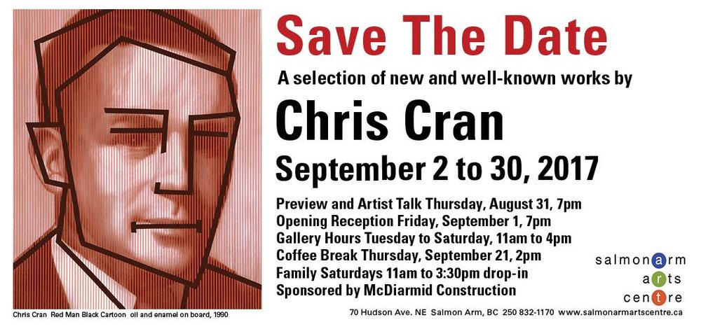 Chris Cran 'Save The Date' at Salmon Arm Arts Centre