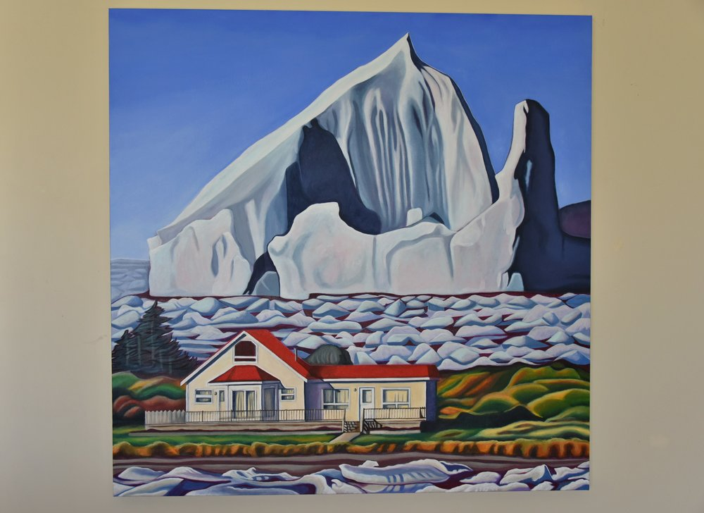Where Icebergs Roam Free - final commission painting for client - painting by Brandy Saturley