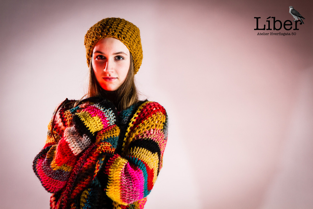 Crochet open sweater and crochet hat