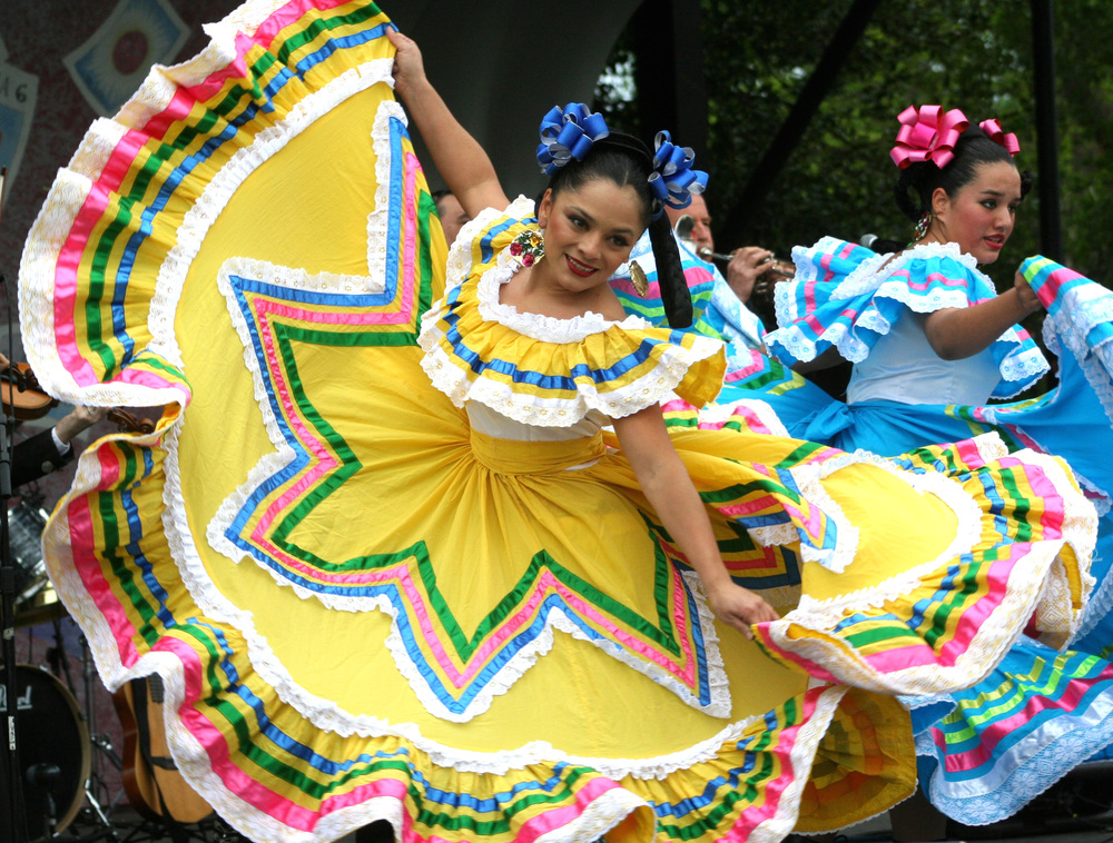 This festival takes place in Mexico. It is called Cinco De Mayo and they celebrate their independence with bright clothing and dancing!