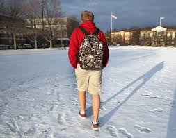 Only in Wisconsin do you see people walking in shorts in the winter!
