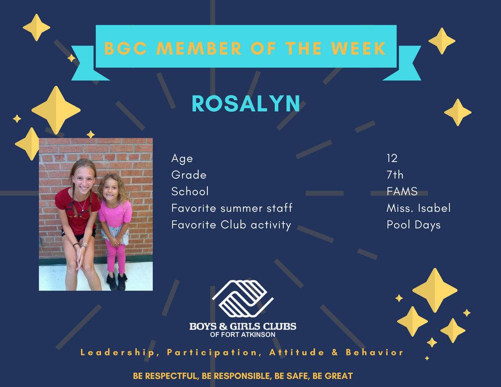 Rosalyn                         -