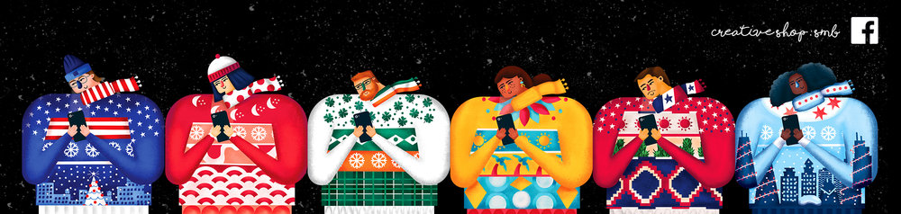 Holiday Illustration for Facebook Creative Shop SMB