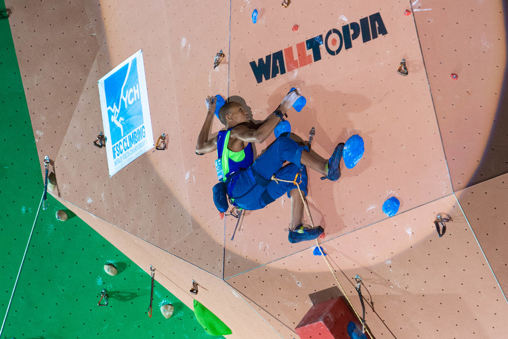 Semifinals Route (Photo by Bruce Mitchell, climbingpix.com)