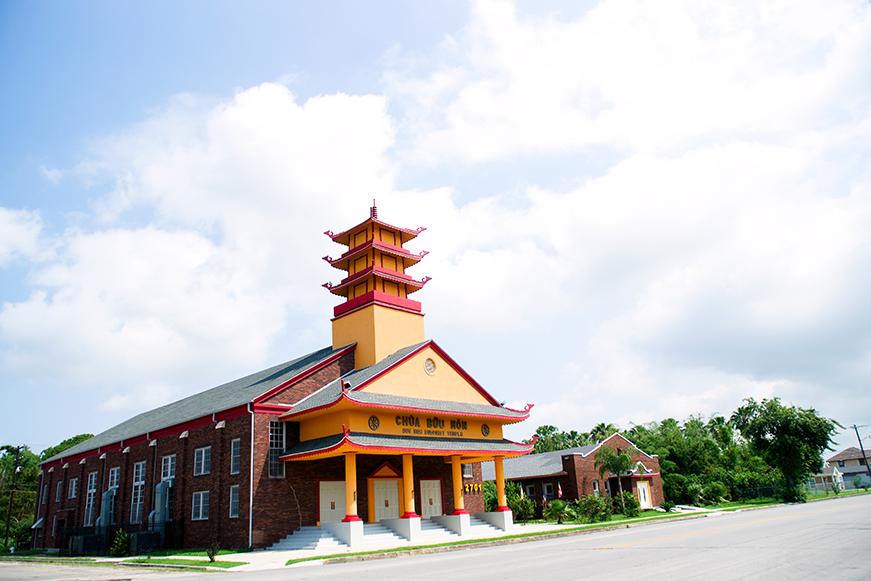 Buumon Buddhist Temple in Downtown Port Arthur.