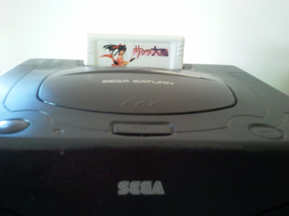 Sega Saturn with Memory Card