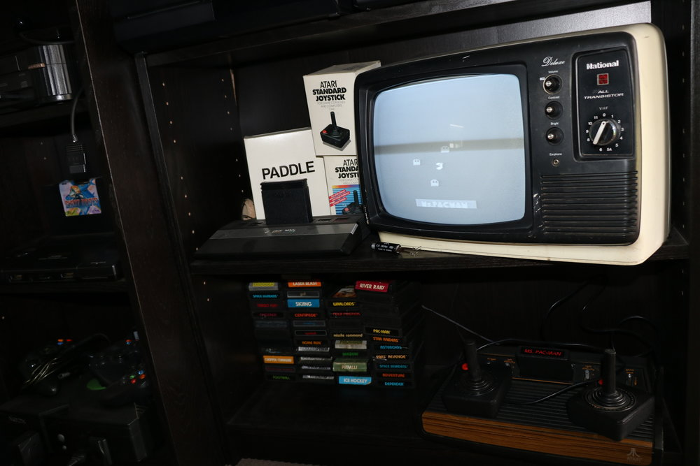 The Atari 2600 section is now as it should be, with a television from the same era.