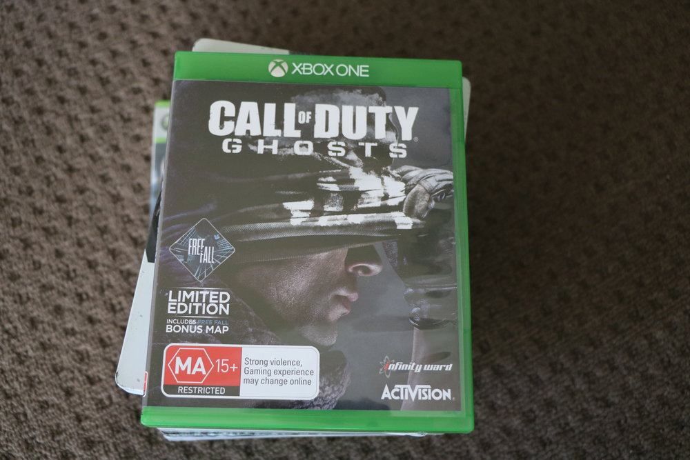 """Ghosts was the first Call of Duty game to not include a gun on the front cover. Tom and I used to have a segment on game covers called """"Gun or No Gun"""". The joke was there was a gun on 99% of game covers."""