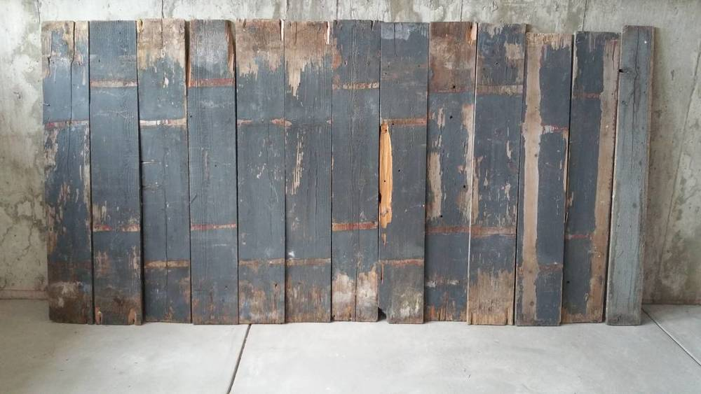 Distressed wood for walls.
