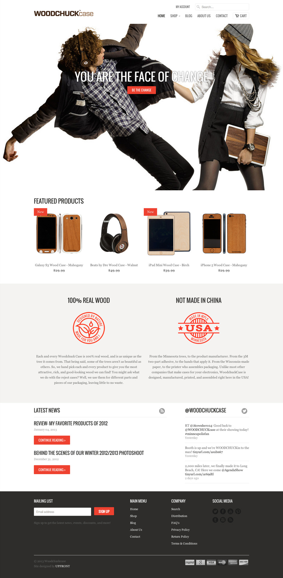 Check out the new website I designed and developed for  WoodchuckCase!