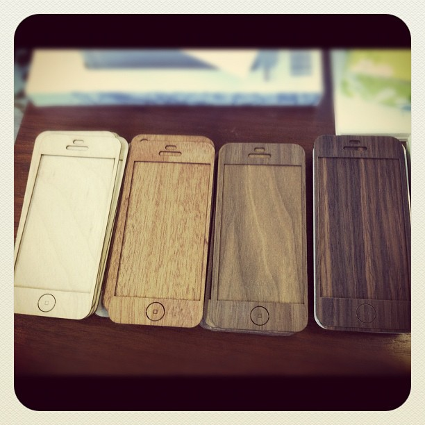 New Rosewood color from @woodchuckcase on far right. Coming soon! #woodchuckcase #iphone #iphone5