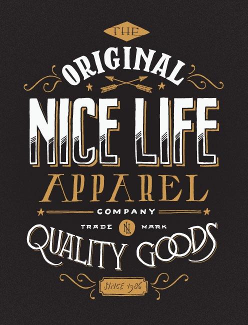 inspiredmark :     Typography: Nice life