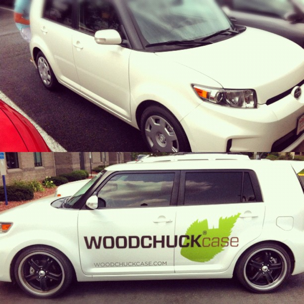 Before and after of my scion design for #woodchuckcase (Taken with  Instagram )