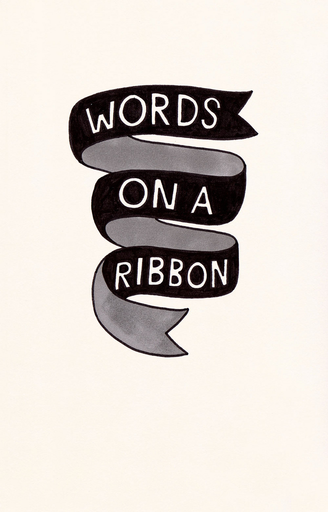 visualgraphic :      Words on a ribbon