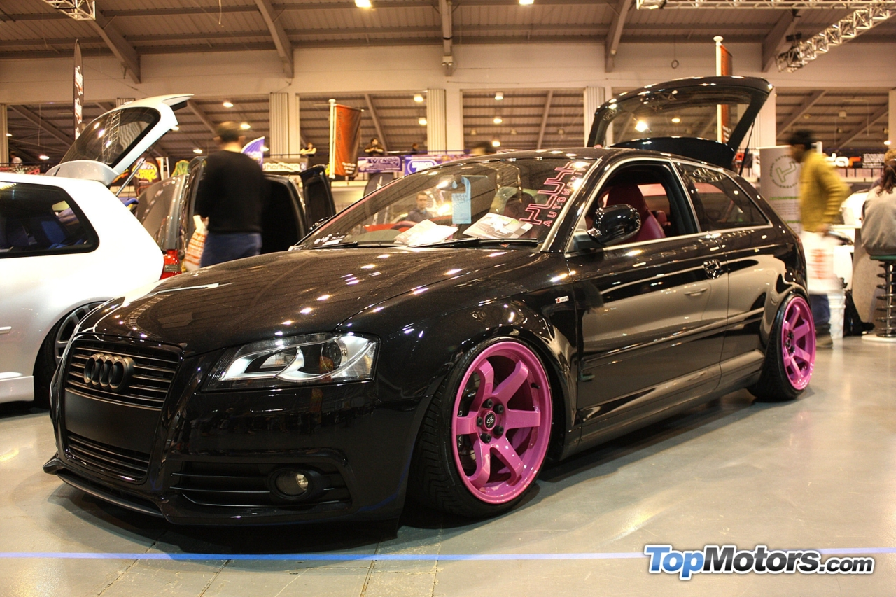topmotors :     Digging the pink rims on this Audi from Ultimate Dubs 2012.   Photography by  TopMotors