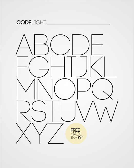 inspirationfeed: CODE free font