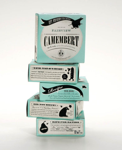 ffffffound :      Fairview Cheese - TheDieline.com - Package Design Blog