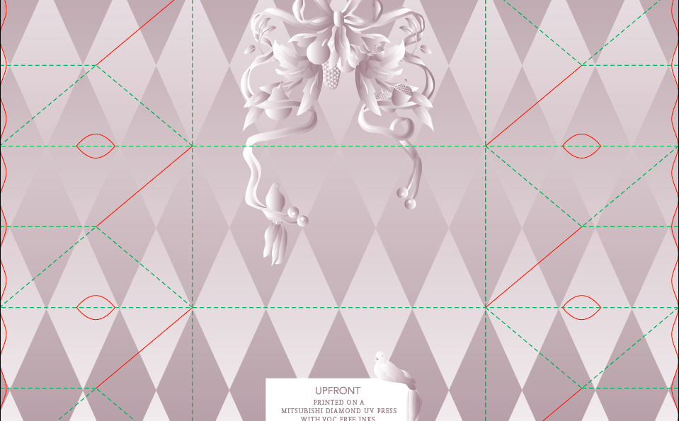 ‎*Sneak Peak! Crazy Die-Line + Crazy Pattern + Crazy Gradients =    UpFront World    's  Holiday mailer!