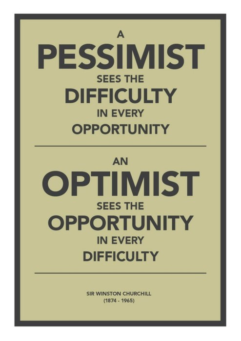 Stop being so pessimistic! Optimism can change your life.