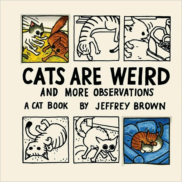 salmmon :      puddlesthecat :     me + katie     Ah! I have to get this. I have his  Cat getting Out of a Bag  book and I love it!