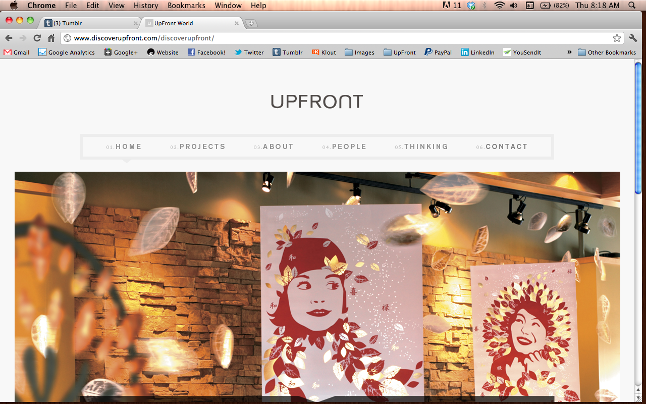 "UpFront's New  Website  is now LIVE! (I'm still working on the crazy ""people"" section, but GO CHECK IT!)"