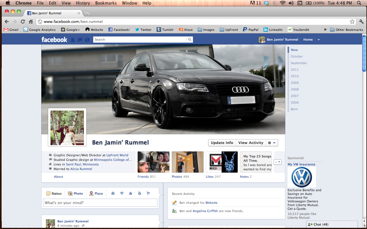 Just got the new Facebook! Should be available to the public on Friday. How do you like it?