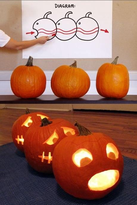 agenerousdesigner: Pumpkin Centipede Ha! Pretty funny…
