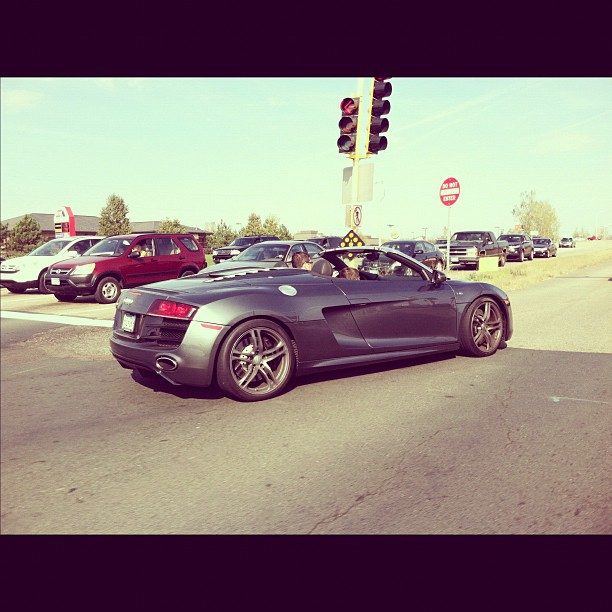 Audi V10 R8 Spyder (Taken with instagram)