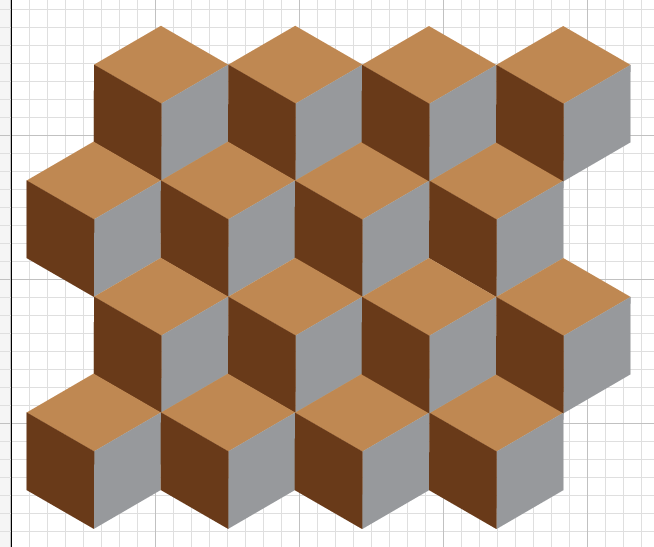 New pattern for  UpFront , using tan, brown, and metallic silver.